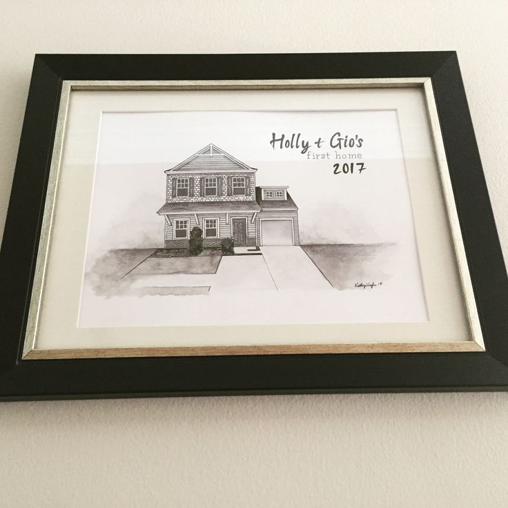 My best friend gave us our first housewarming gift and it is so beautiful. A hand drawn picture of our first home. The best part about it is we can cherish this piece if we ever move. If you would like to have a keepsake made please contact me at hpavone@yahoo.com  She is extremely affordable and does flawless work. #firsthome #housewarming #gift #house #sketching #home #homesweethome #decorations #keepsake