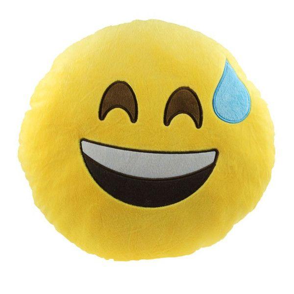 Relieved Emoji Pillow