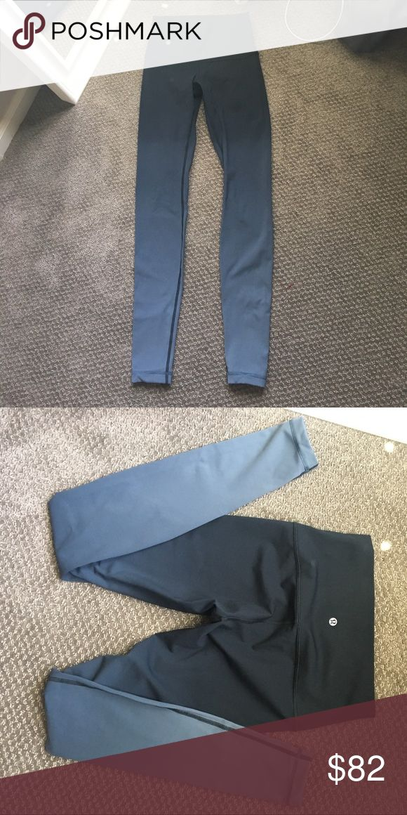 Lululemon leggings Hombre black gray size 6. Only tried on once. Too tight. Runs tight for a size 6. Tag missing. lululemon athletica Pants Leggings