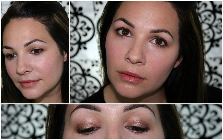 Tutorial! A pop of shimmer on the middle of the lid and a subtle your-lips-but-better mouth.