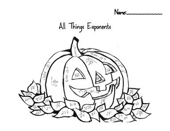 all things exponents color by number halloween fall pumpkin colors pumpkins and coloring pages. Black Bedroom Furniture Sets. Home Design Ideas