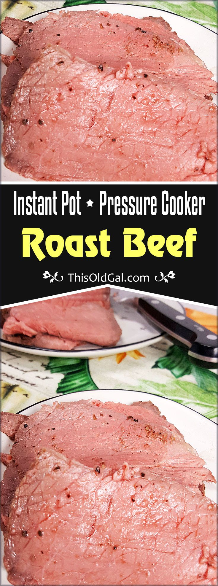 Yes, it possible to make a Deli Style Roast Beef Slices using your Instant Pot or Pressure Cooker with my Fool Proof Pressure Cooker Roast Beef method. via @thisoldgalcooks