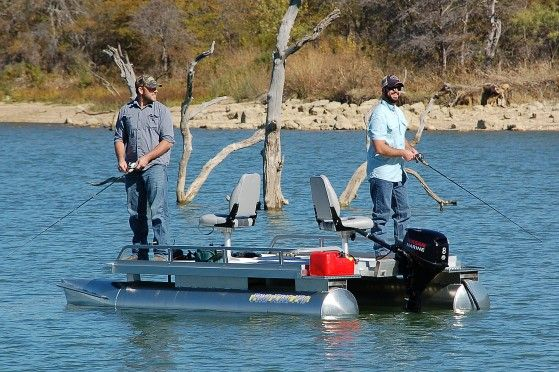 The pond king pro is our best selling small pontoon boat for Pond fishing boats