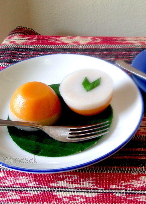 Kue talam ubi - Sweet potato pandan cake