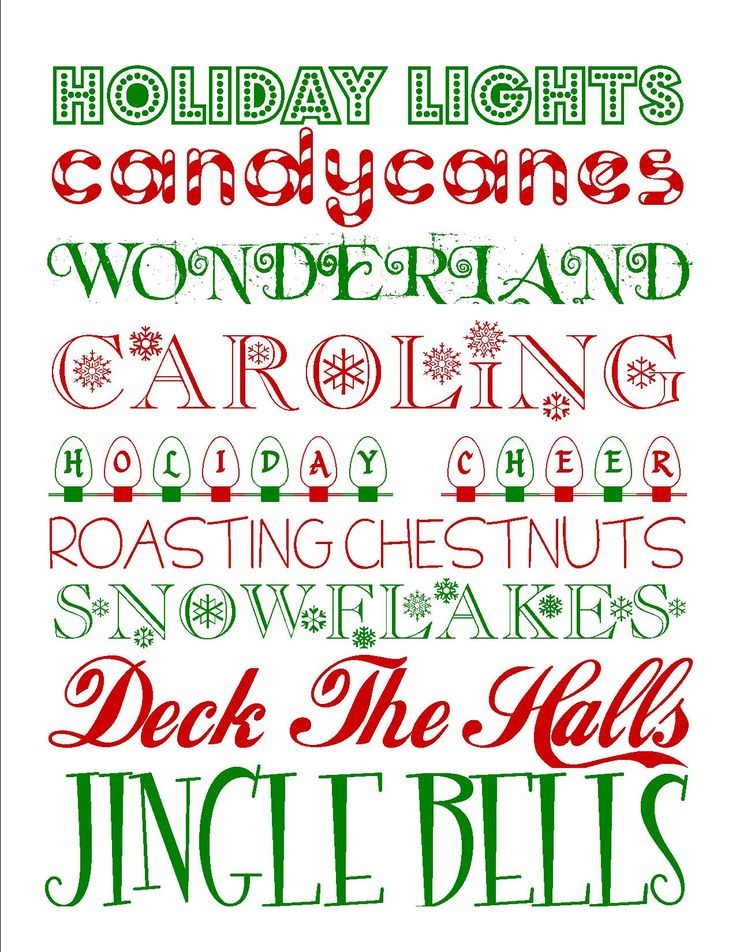 {FREE Printables} Fun Yule Subway Art Printable