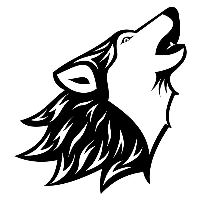 Howling Wolf Tattoo http://freevectorsite.com/howling-wolf-tattoo/