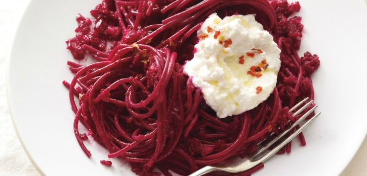 Beet Pasta with Ricotta - AOL Food