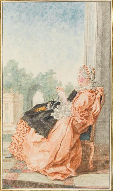 Madame la comtesse d'Egmont Douairière Carmontelle (dit), Carrogis Louis (1717-1806) Réunion des Musées Nationaux-Grand Palais -