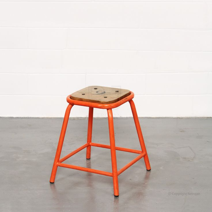 Orange Baez stool from Retrojan - a side table idea for the living room
