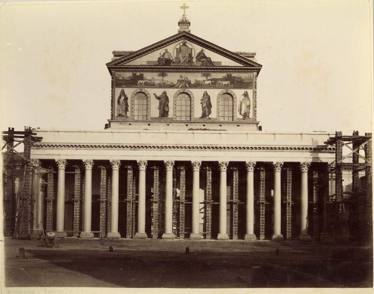 S. Paolo fuori le Mura in ri-costruzione (1880)