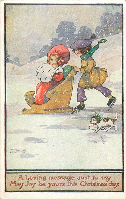 Agnes Richardson- vintage Christmas postcard