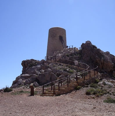 Perulico tower on the coastal walking trail from Mojacar