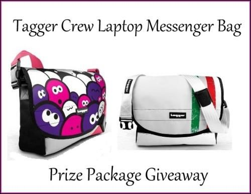 Tagger Crew Laptop Messenger Bag Prize Package Giveaway US ONLY 4/2