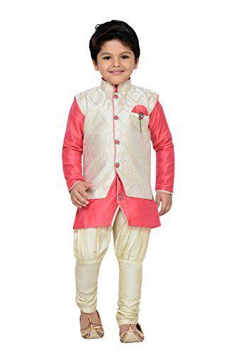dc95df5f43 AJ Dezines Kids Indian Wear Bollywood Style Kurta Pyjama Waistcoat for Boys