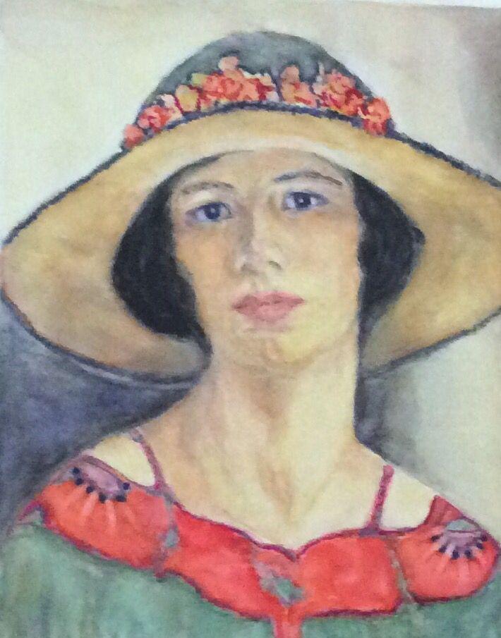 Women with hat watercolor (Alvarez)