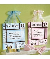 Baby Information Art Canvas Personalized Baby Information