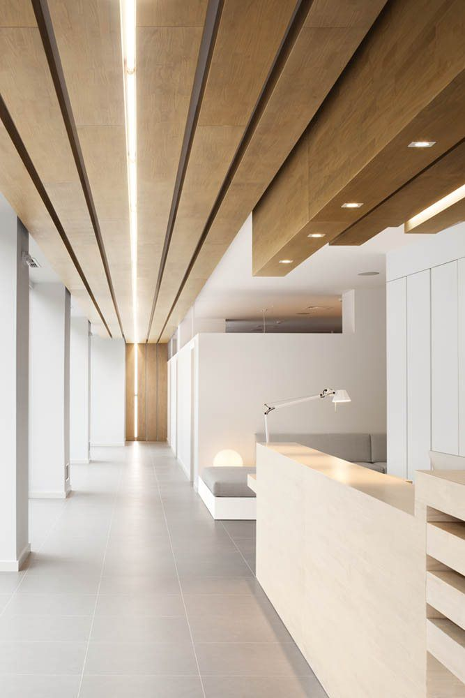 Office design based on creative wooden shapes #office #wood #minimalism