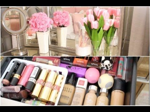 ThatsHeart's makeup storage/collection is nice.  Long introduction, but her space and set up is very nicely done.  Clear video, and well spoken!