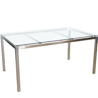 """Illus Kube Rec. Dining Table BY SOKUL D 39"""" or 35"""" W 79"""" or 59"""" H 30""""  Stainless Steel"""