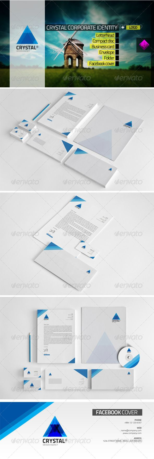 Crystal Corporate Identity GraphicRiver Specifications