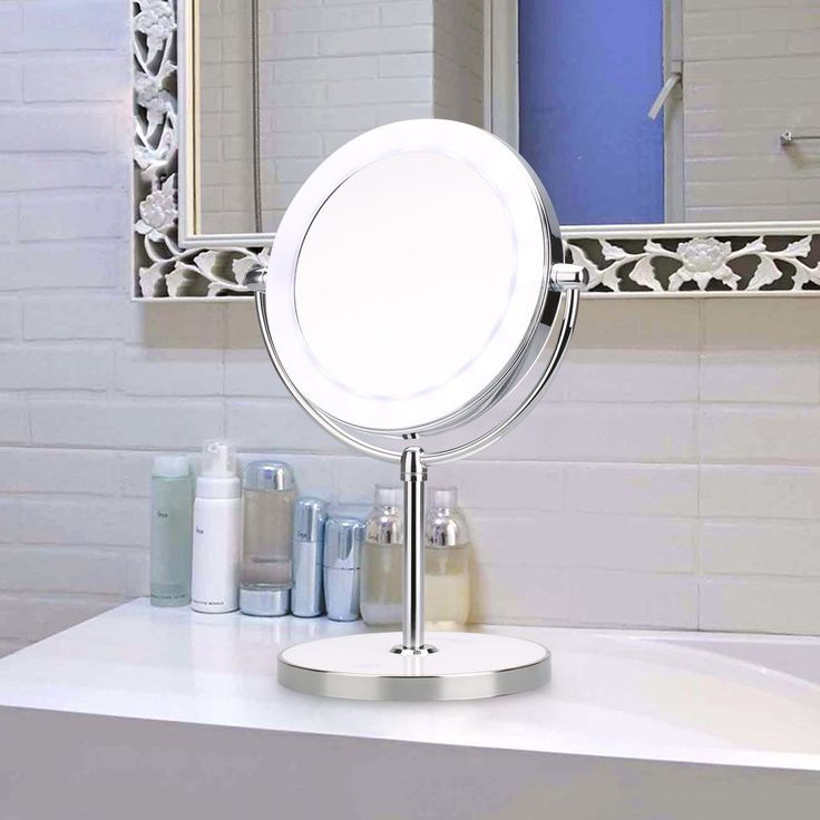 23 best makeup mirror images on pinterest homemade ice mirror and ovonni double side 7x magnification led makeup mirror rechargerable bathroom and countertop led lighted vanity mozeypictures Images