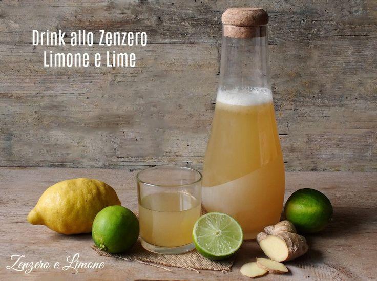 Drink+allo+zenzero,+limone+e+lime