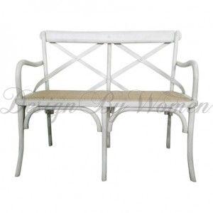 Drewniana ławka  Chic Antique biała