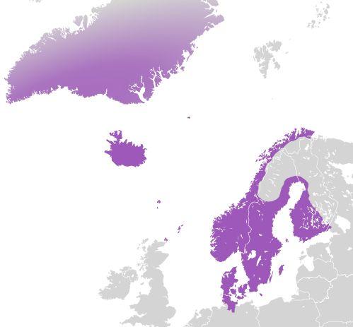 Kortet her viser Kalmarunionen fra 1397-1523. Her fremgår det tydeligt, hvilke områder der var en del af unionen.