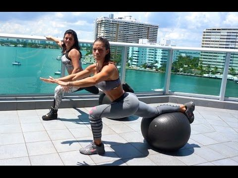 Kickgrid » Blog Archive MICHELLE LEWIN Workout: Full Lower Body with Swiss Ball
