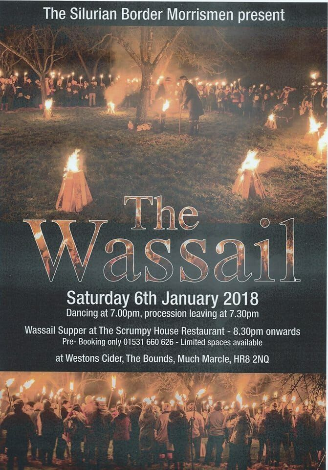 Join the Much Marcle Wassail with Westons Cider on Saturday 6 January 2018. Enjoy an apple celebration and procession and wassail supper.