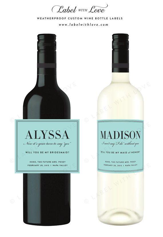 Wine Bottle Labels Set by
