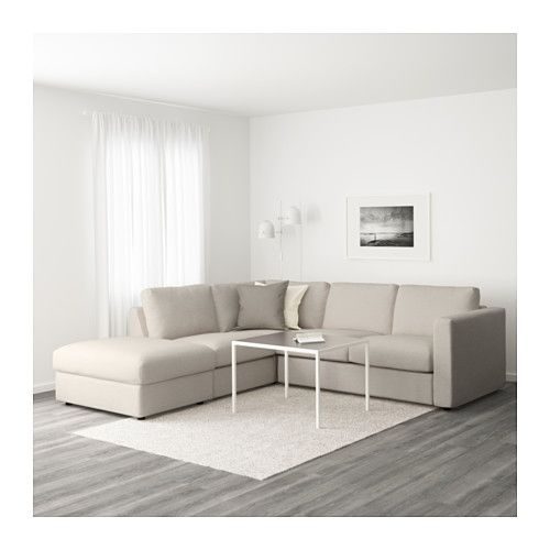VIMLE Sectional, 4-seat corner - with open end/Gunnared beige - IKEA
