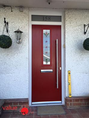 The York Composite Door in Red with Fleur and Bespoke Toplight & 102 best Previous Installations images on Pinterest | Front doors ... Pezcame.Com
