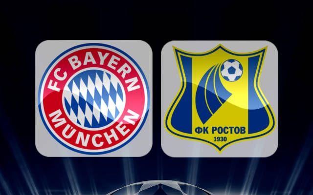 FC Rostov vs Bayern Munich : Line-ups, preview & prediction UEFA Champions League Wednesday, 23rd November, 2016