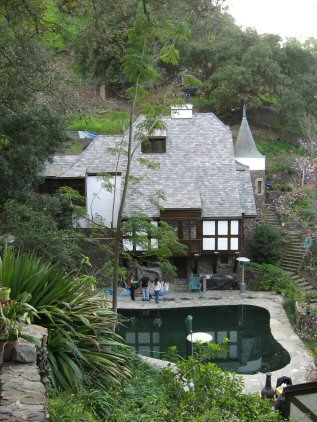 Jean Harlow's house when she was married to Paul Bern. Sharon Tate once stayed there and saw a vision of her own murder.