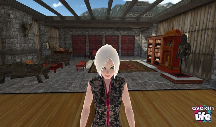 The first outfit I put together in Avakin Life in the first apartment I bought.