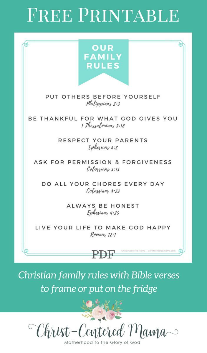 RULES OF FAMILY LIFE 78