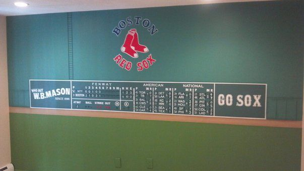 Attractive I Paint Custom Murals Here Is A Cool Green Monster Mural. Fenway Park ... Part 22