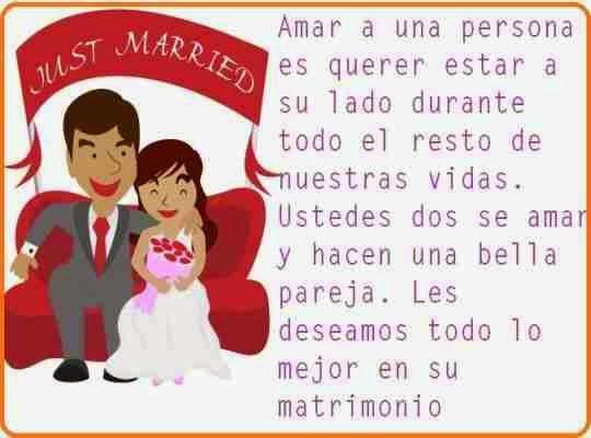 Dedicatorias para recien casados (Boda)