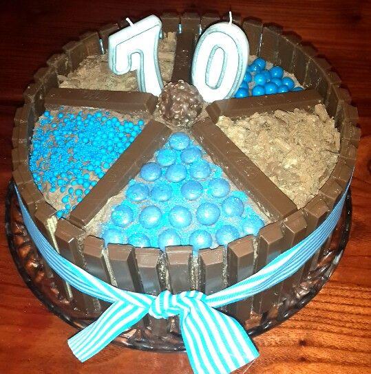 70th kitkat birthday cake