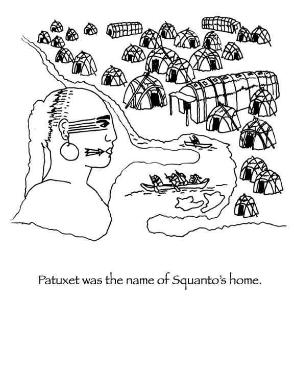1395 best school first american heritage images on pinterest for Squanto coloring pages