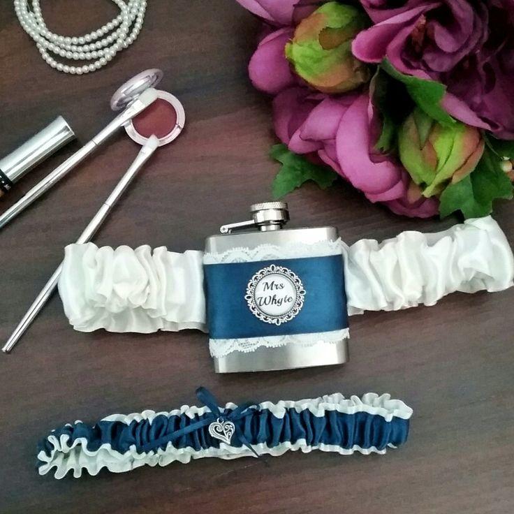 Flask garter; wedding garter; novelty garter; bride garter; garter alternative; personalised wedding garter  Bridal Bling Australian www.bridalbling.com.au