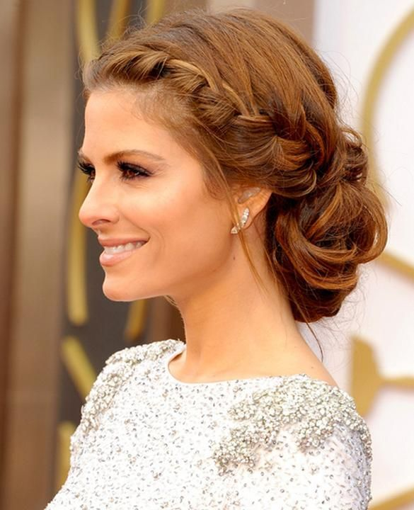 Maria Menounos' braided updo would look stunning with a veil or flower.