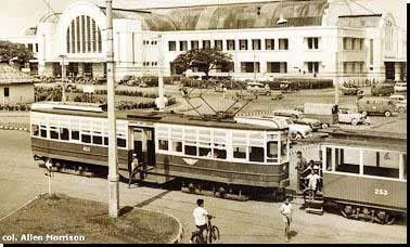 Beos Station, Jakarta. It's still the same building, a busy train station now in North of Jakarta