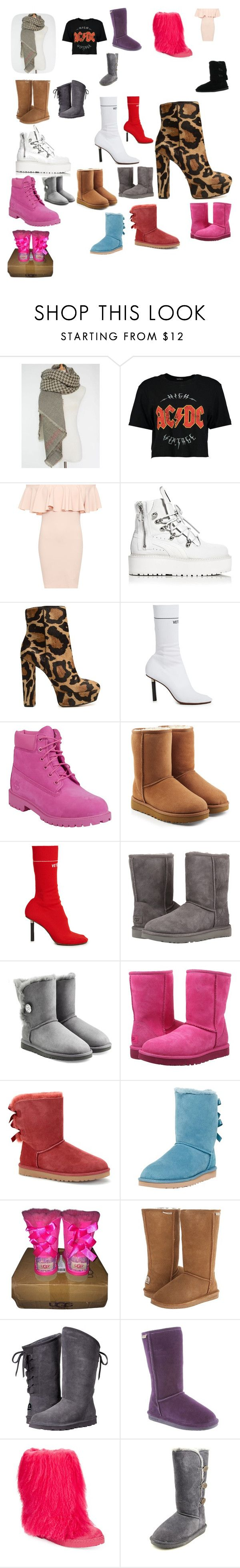 """""""Boots Booties"""" by jewel21097 ❤ liked on Polyvore featuring Boohoo, WearAll, Puma, Schutz, Vetements, Timberland, UGG, UGG Australia and Bearpaw"""