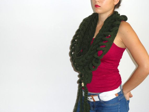 Khaki Scarf Unique design...New by vyldanstyle on Etsy