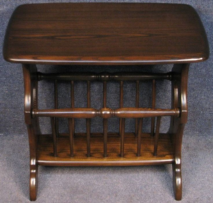 Ercol Elm Chaucer 974 Magazine Rack / Occasional / Side Table Traditional Finish #Ercol #Chaucer