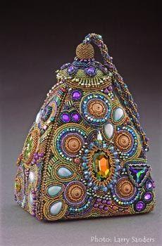 Bead Embroidery Handbag Art - Sherry Serafini