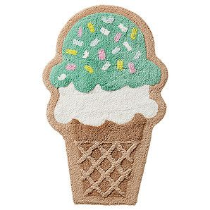 Sweet and stylish, this Ice Cream Bath Mat will really make your bathroom space pop!Made from CottonFunky Ice Cream design