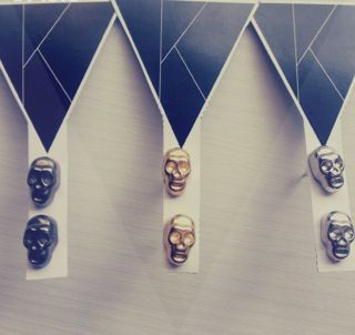 Skull earrings K